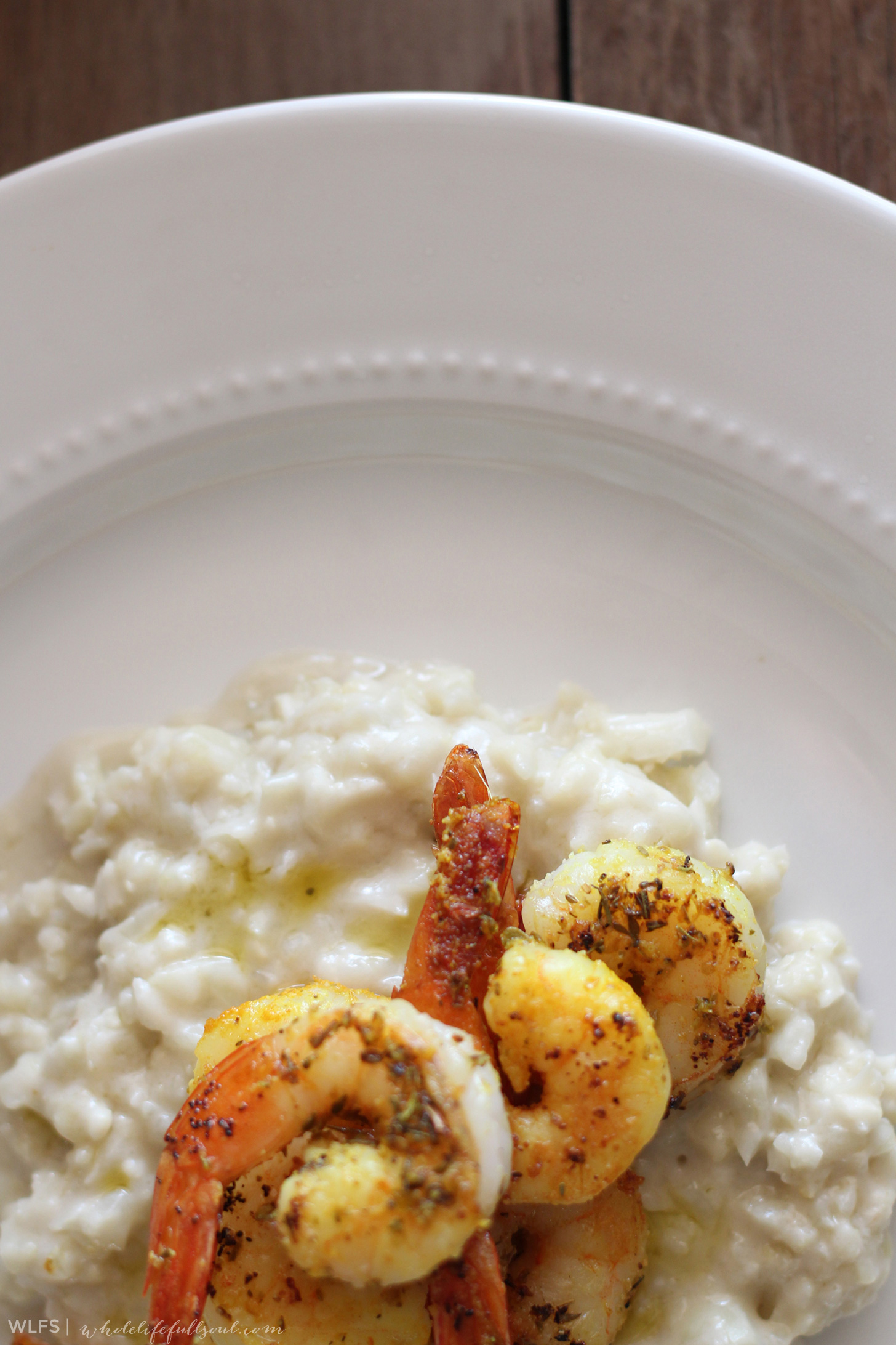 "Shrimp n Grain-Free ""Grits"""