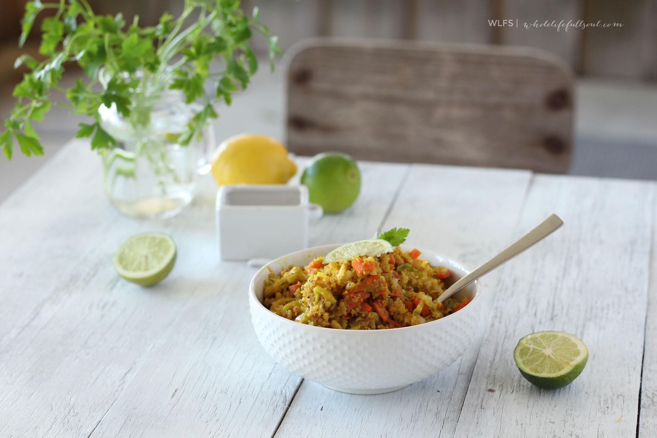 Cauliflower & Leek Turmeric Fried Rice
