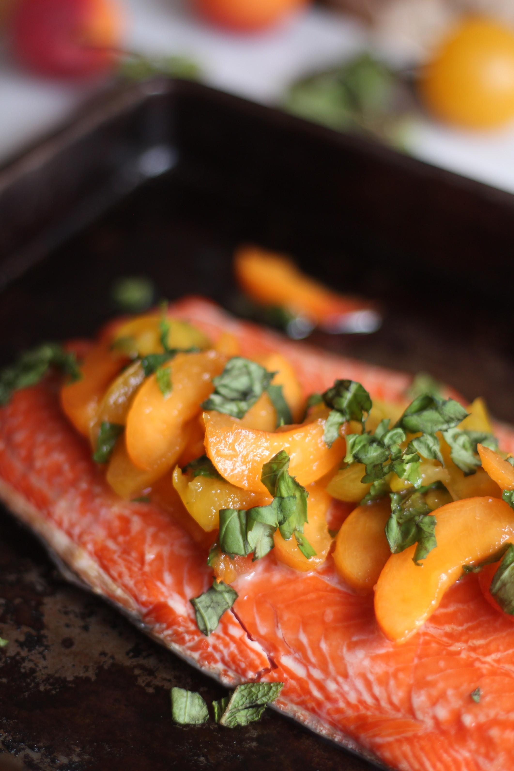 Stone Fruit Salsa Salmon