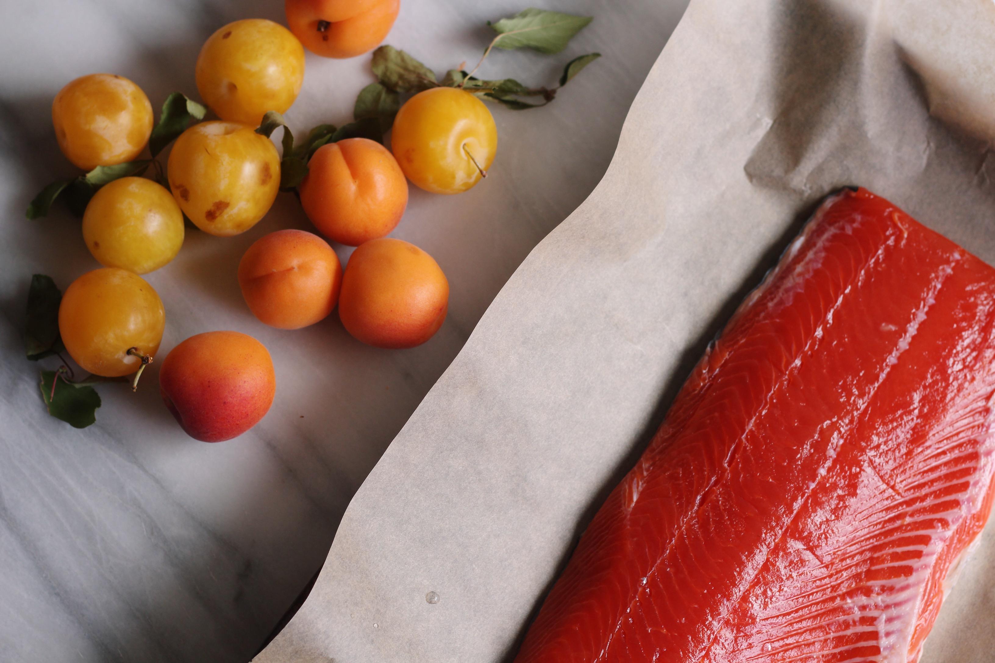 Stone Fruit Salsa with Salmon