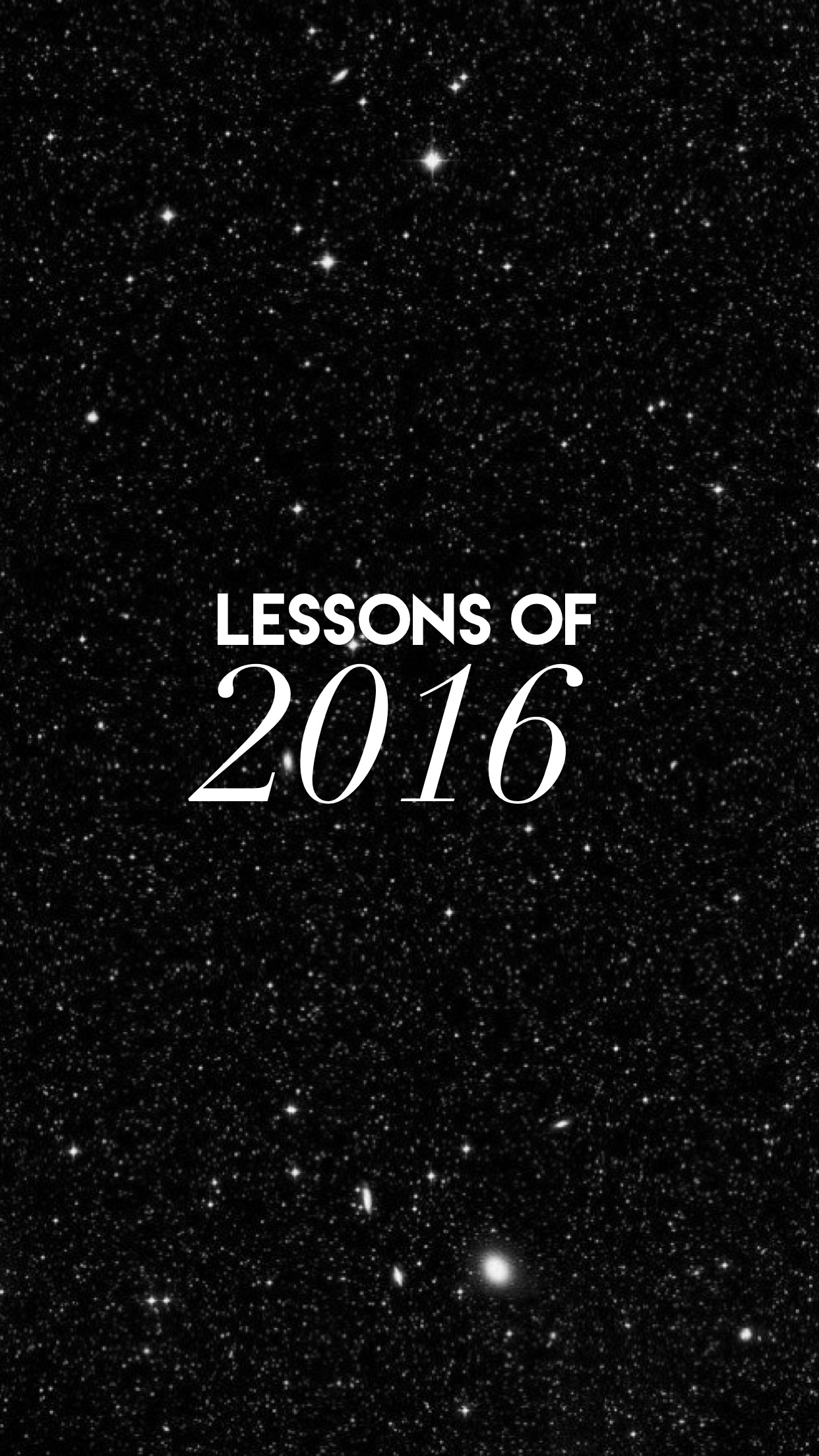 What to Takeaway From 2016